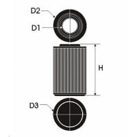 Sportovní filtr Green OPEL MONTEREY 3,1L TD  výkon 80kW (109hp) typ motoru 4JG2TC rok výroby 91-
