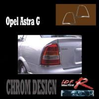 Chromové rámečky zadních světlometů Opel Astra G coupe rok výroby 1999-04