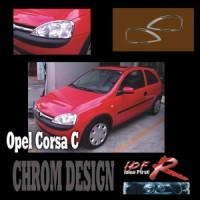 Chromové rámečky předních světlometů Opel Corsa C od roku výroby 02-