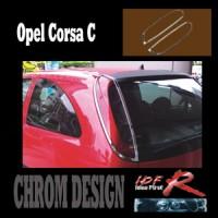 Chromové rámečky zadních světlometů Opel Corsa C od roku výroby 02-